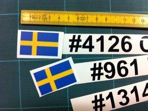 Namn + nummer dekor till din bil